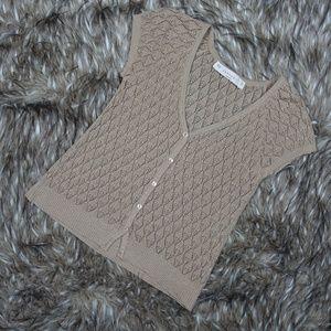 ZARAKNIT Open Knit Short Sleeve Cardigan Sweater